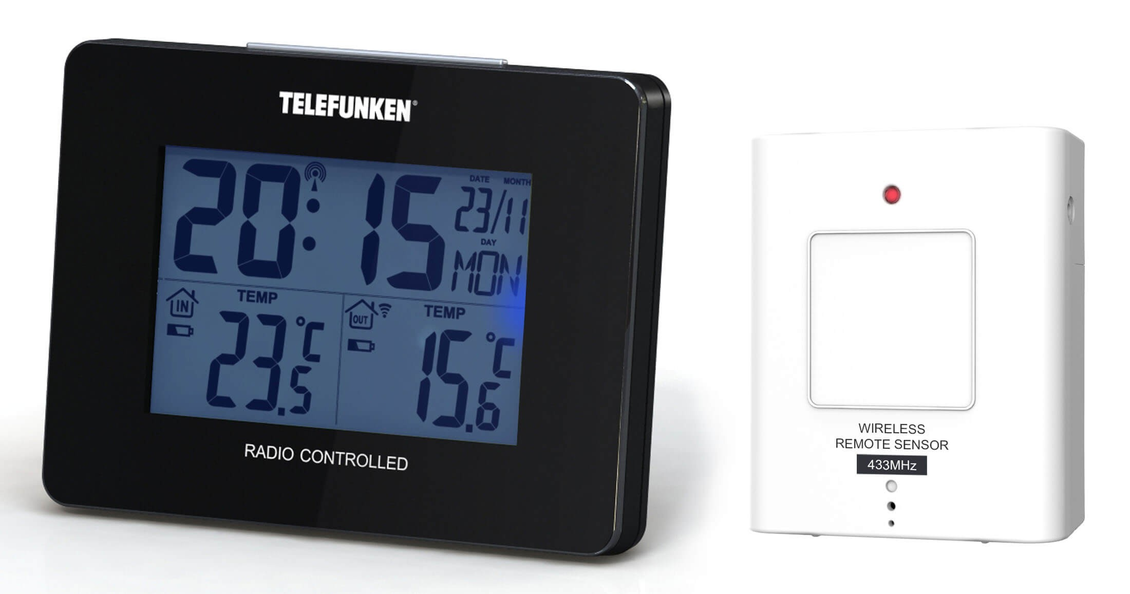 Stacja pogodowa Telefunken FTS-40 czarna