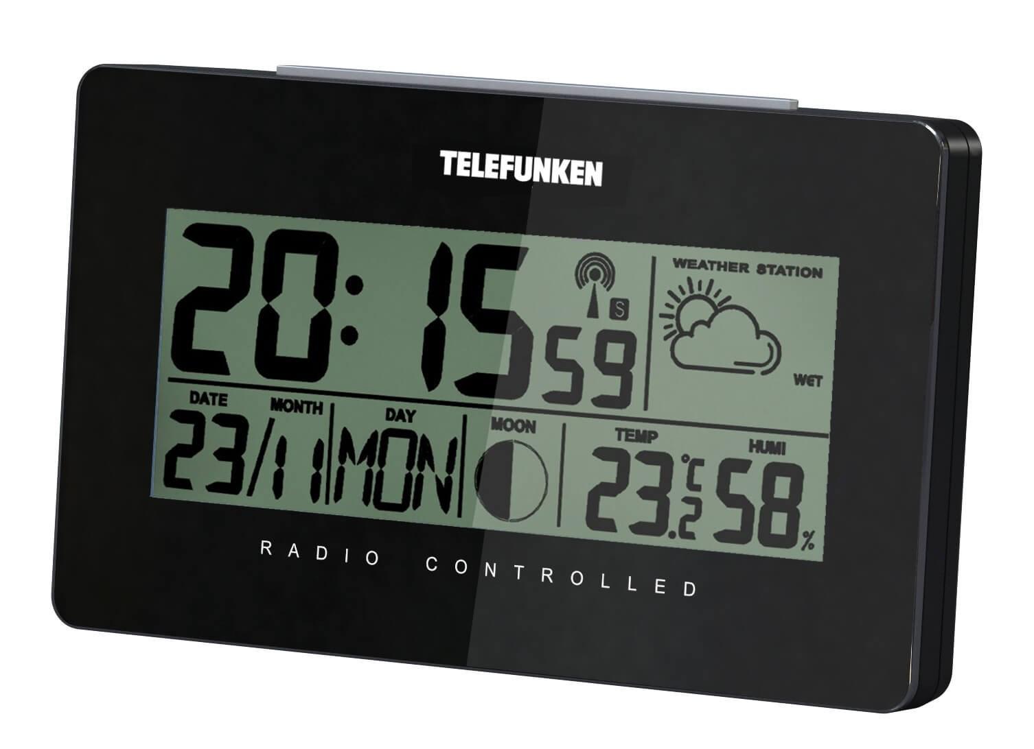 Stacja pogodowa Telefunken FUD-50-W czarna