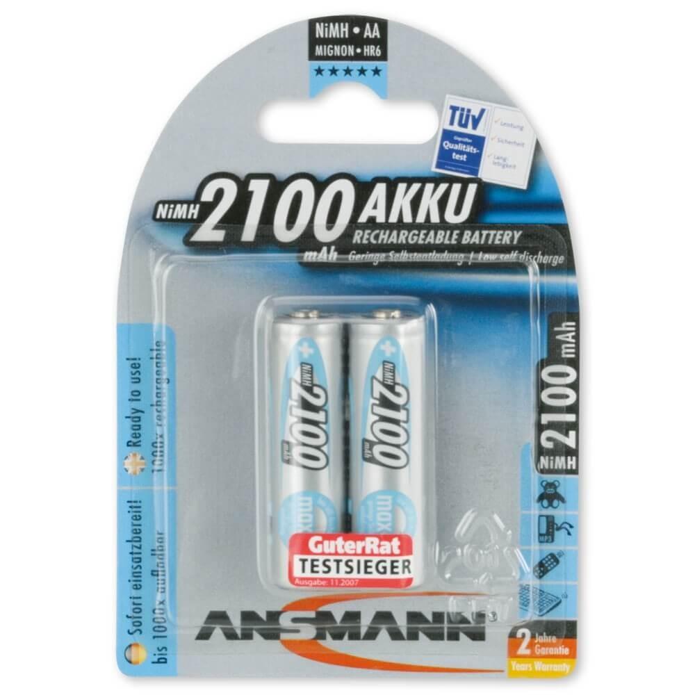 Akumulatory NiMH ANSMANN maxE 2x AA 2100mAh