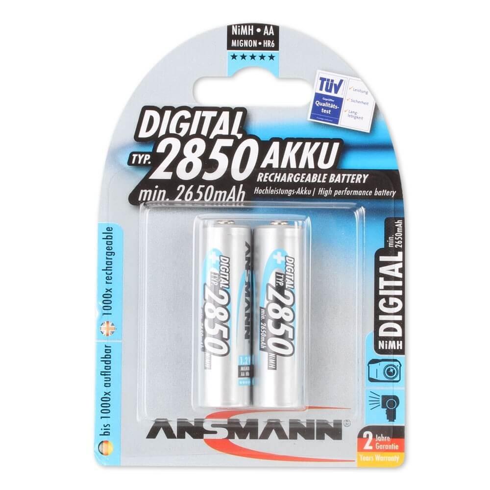 Akumulatory NiMH ANSMANN 2x AA 2850mAh Digital