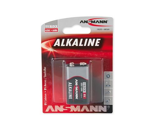 Bateria alkaliczna ANSMANN RED 1x 9V E-Block