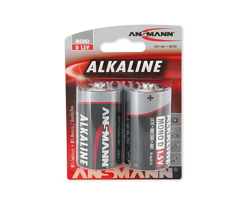 Bateria alkaliczna ANSMANN RED 2xD
