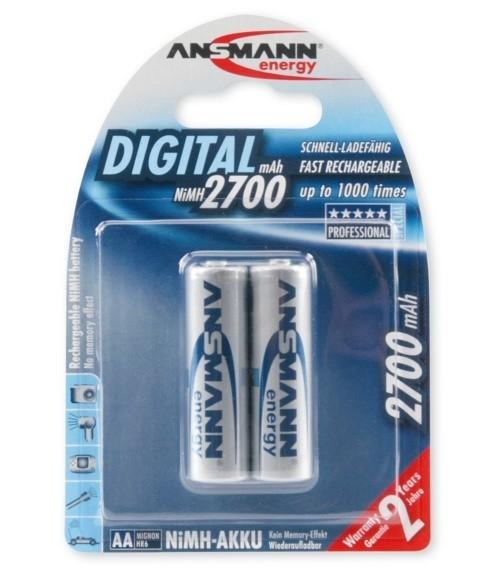 Akumulatory NiMH ANSMANN 2x AA 2700mAh Digital