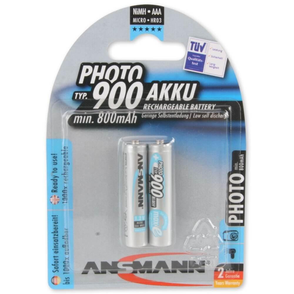 Akumulatory NiMH ANSMANN maxE 2x AAA 900mAh