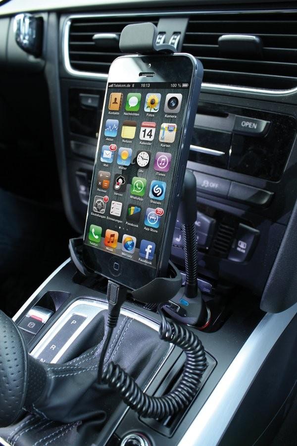 adowarka samochodowa ANSMANN USB z uchwytem do smartfonów XXL