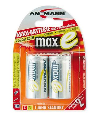 Akumulatory NiMH ANSMANN maxE 2x C 4500mAh