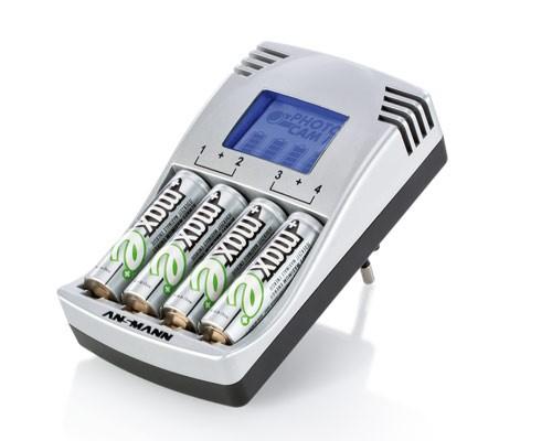 Ładowarka ANSMANN PhotoCam IV & 4x AA 2500 maxe+