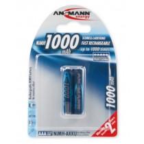 Akumulatory NiMH ANSMANN 2x AAA 1000mAh
