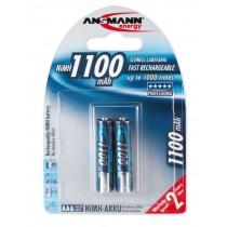 Akumulatory NiMH ANSMANN 2x AAA 1100mAh