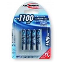 Akumulatory NiMH ANSMANN 4x AAA 1100mAh