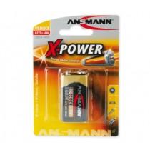 Bateria alkaliczna ANSMANN X-Power 1x 9V E-Block