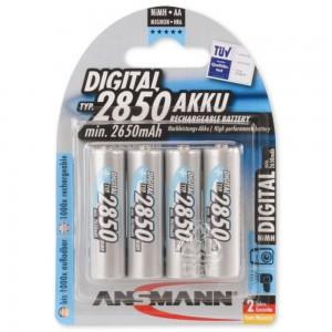 Akumulatory NiMH ANSMANN 4x AA 2850mAh Digital