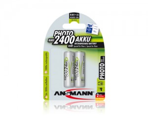 Akumulatory NiMH ANSMANN 2x AA 2400mAh Photo
