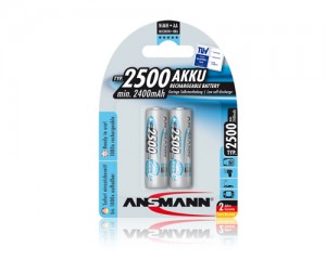 Akumulatory NiMH ANSMANN maxE Plus 2x AA 2500mAh