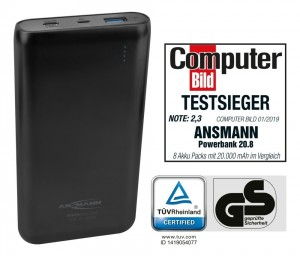 Powerbank Ansmann 20.8 Typ C - QC 3.0 wyróżnienia