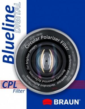 Filtr CPL BRAUN Blueline 55mm